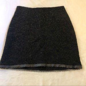 Betsy Johnson Black Vintage Wool Skirt, Size Small